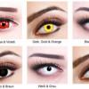 Gruselige Kontaktlinsen für Halloween in verschiedenen Farben schon ab 9,99 €