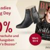 *nur heute* Mirapodo – Großer Ladies Shopping Day mit 20% Rabatt auf Damenschuhe + 10 gratis Ausgaben Harpers Bazaar + weitere tolle Rabattaktionen