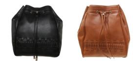 Rucksack aus weichem Lederimitat in schwarz oder cognac nur 13,95 Euro (65% gespart)