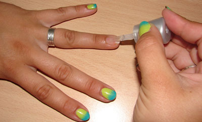 Ombre Nails Unterlack