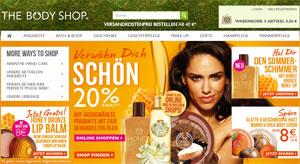 The Body Shop Wertgutschein 50 Prozent