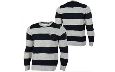 Xint Herren Feinstrick Pullover grau schwarz