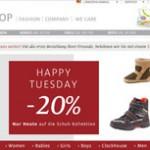 C und A 20 Prozent Rabatt Schuhe