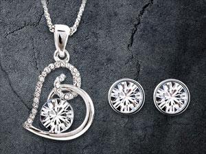 Diamond in a Heart Kette 88 Prozent günstiger