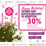 The Body Shop 30 Prozent
