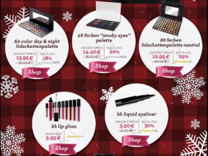 bh Cosmetics 8 weihnachtliche Super-Schnäppchen Angebote