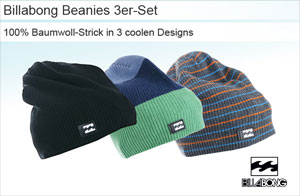 Billabong Beanies 3er Set