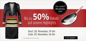 Black Friday Karstadt 50 Prozent  Rabatt ausgewählte Artikel