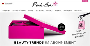 Black Friday Pink Box 50 Prozent Rabatt erste Box