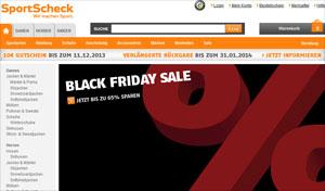 Black friday Sportscheck 65 Prozent Rabatt ausgewählte Artikel Gutschein