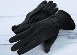 Damen Lederhandschuhe Plüschfell 55 Prozent günstiger