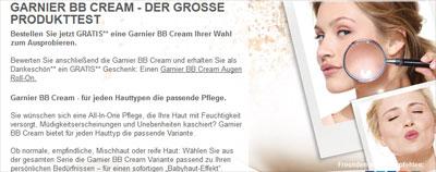 Garnier BB Cream kostenlos testen