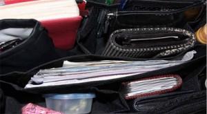 HandtaschenOrganizer schwarz 999 Euro Fächer