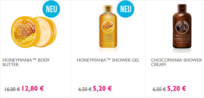 The Body Shop 20 Prozent Rabatt Winter-Lieblinge Produkte