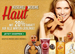 The Body Shop 20 Prozent Rabatt Winter-Lieblinge