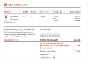 dress-for-less-20-prozent-rabatt-kleider-warenkorb