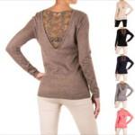 Luxus Damen Pullover Spitze 66 Prozent günstiger