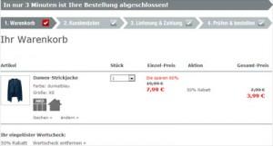 NKD Sale 50 Prozent Rabatt Beispiel
