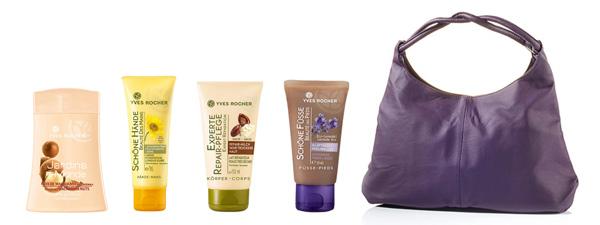 Yves Rocher SOS-Set zarte Haut mit Handtasche
