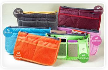 Handtaschen Organizer Farben