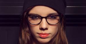 Augen schminken Brille