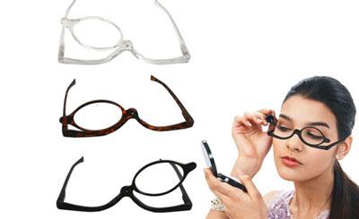 Augen schminken Brille Schminkbrille