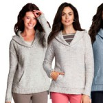 Lands End Damen Kapuzenpullover