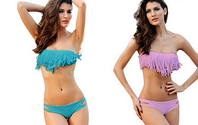 Fransen Bikini Push up Farben
