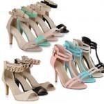 Sandaletten Pastell