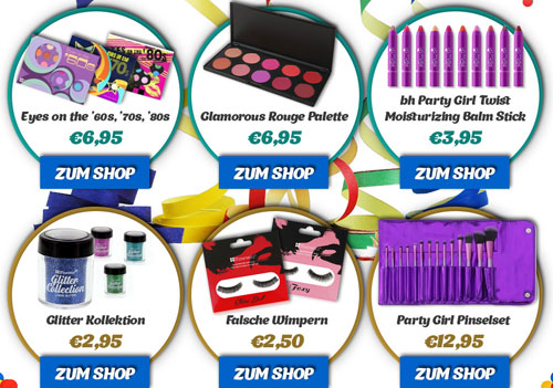 bhcosmetics Karneval Make-up Sale Angebot
