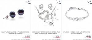 Schmuck Swarowski Elements reduziert Angebot