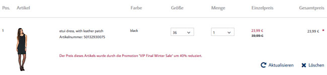 Tom Tailor Winter Sale Rabattaktion