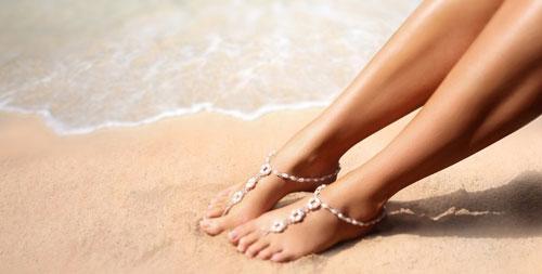 Schmuck-Set Füße Fußkette