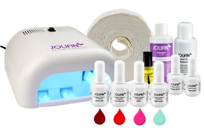 Jolifin Carbon Colors UV-Nagellack Einsteiger-Set