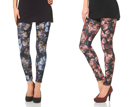 Laura Scott Leggings mit Allover-Blumenprint