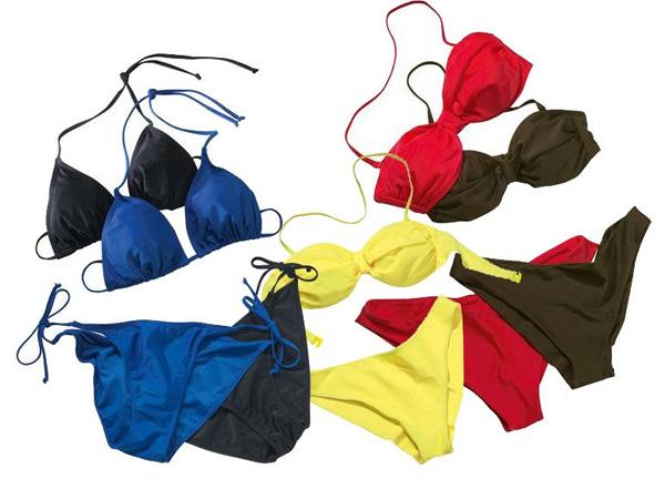 Bandeau oder Triangel Bikini in 5 Farben nur 4,99 Euro