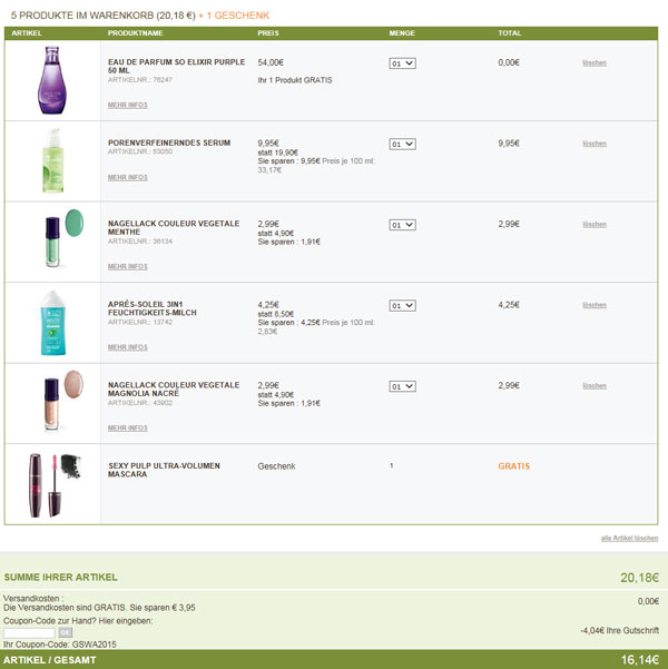 Yves Rocher White Night Shopping Gratis Produkt Beispiel