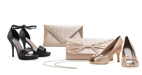 Highheels Clutch Groupon Schuhe