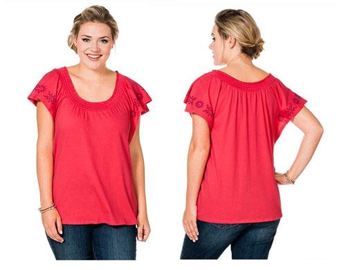 Basic-Schnäppchen für Mollige: Shirt mit Fledermausärmeln nur 9,99 Euro