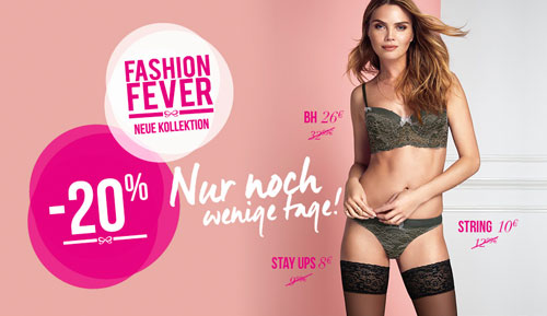 Hunkemöller Fashion Fever Rabatte Aktion